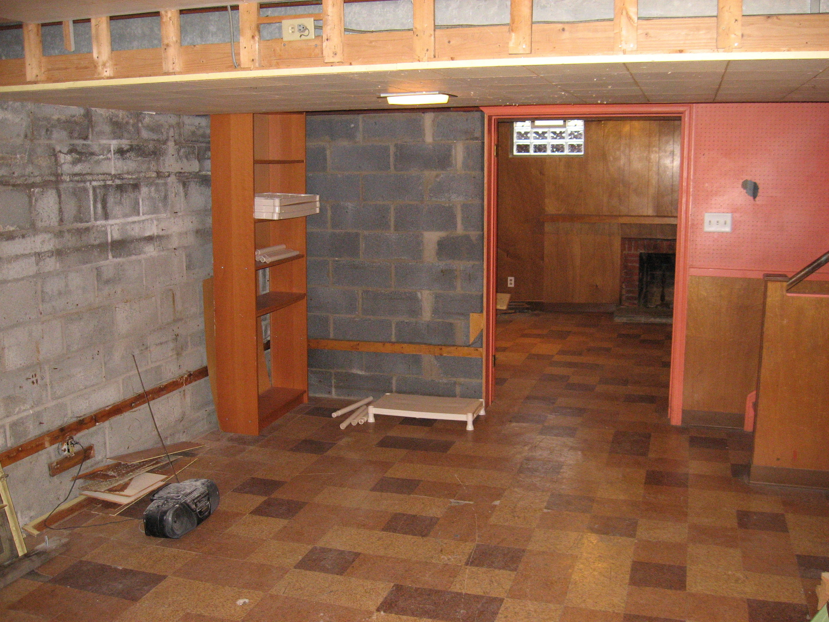 Outdated basement during demolition