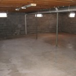 Bare basement ready for renovation