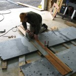 Fabrication of soapstone countertops