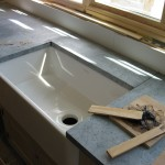 Installation of soapstone countertops