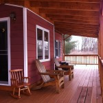 New porch with premium pressure-treated deckboards