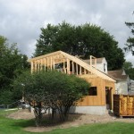 Framing addition of garage and extension of master bedroom above