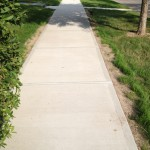 New concrete sidewalk