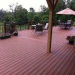 "Newly-rebuilt deck with Trex Transcend deckboards in ""Treehouse"" color"