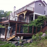 Newly-rebuilt deck, balcony, and catwalk