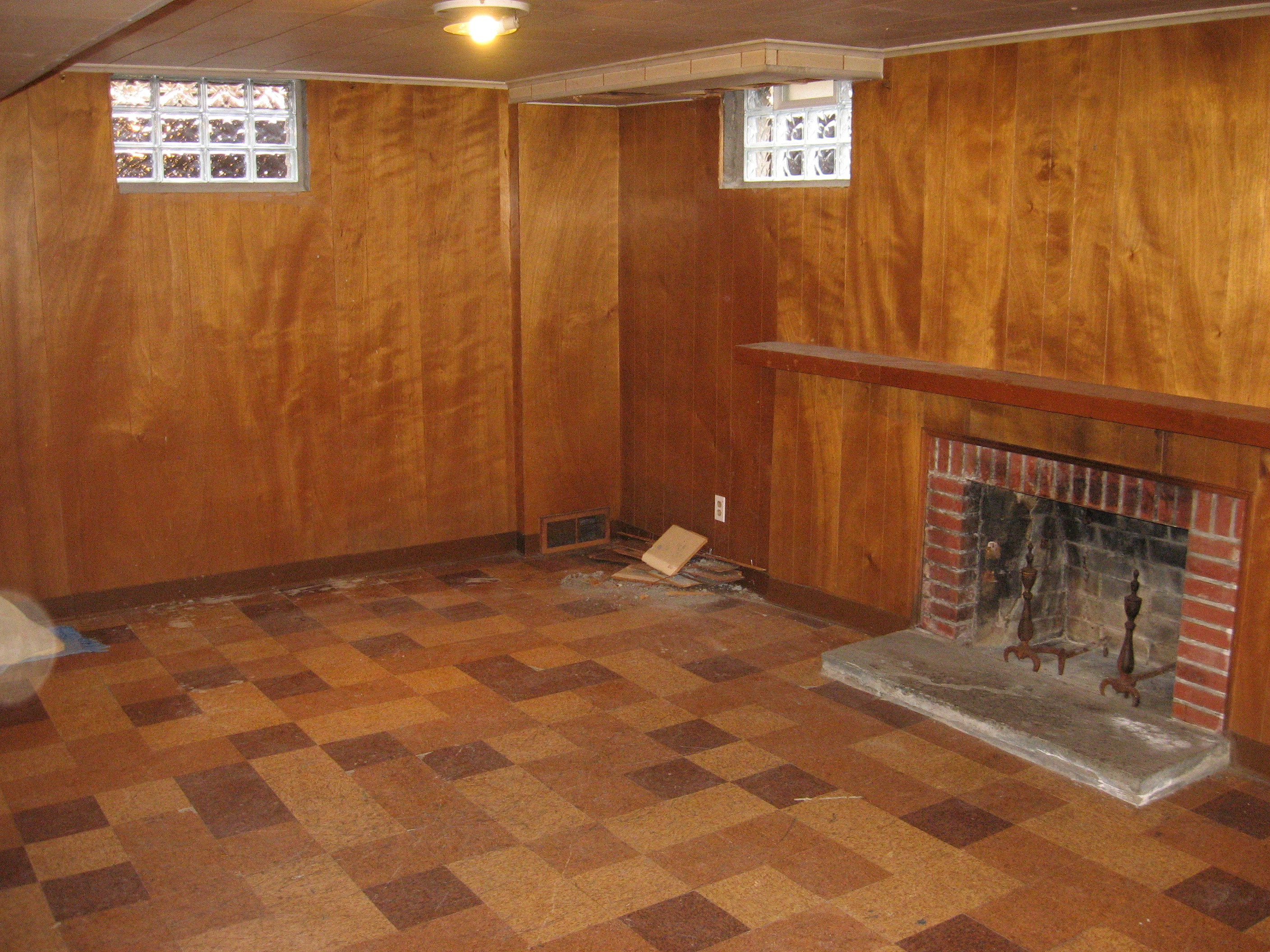 Outdated basement prior to demolition