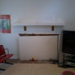 Television/Fireplace – Before