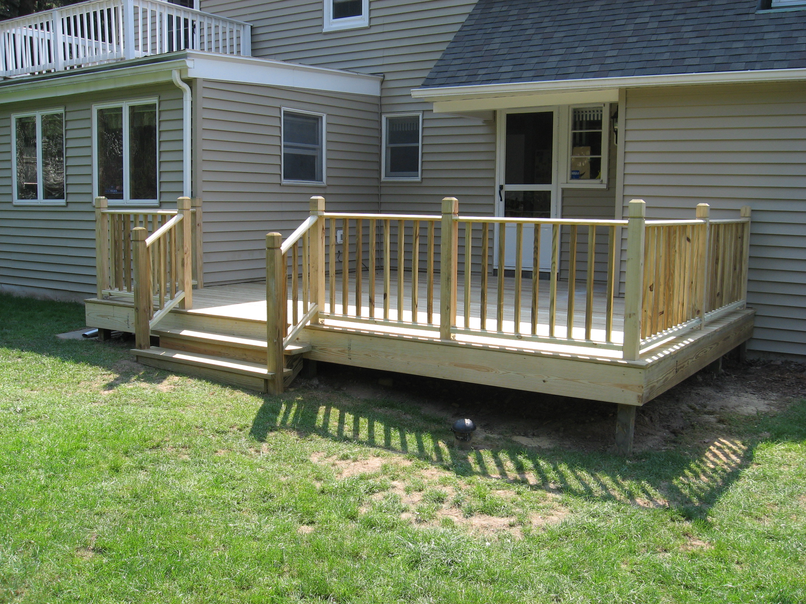 Decks porches for Pressure treated decking