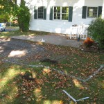 Before paver patio extension
