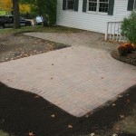 After paver patio extension